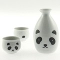 White Panda Sake Set